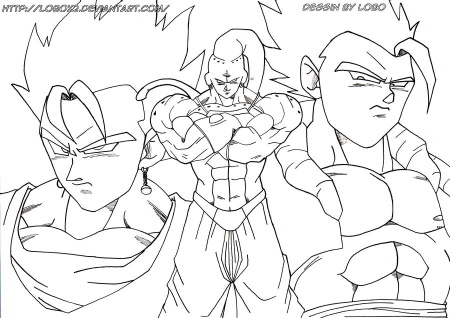 Vegeto et Gogeta vs Mega Buu by Lobox2 on DeviantArt