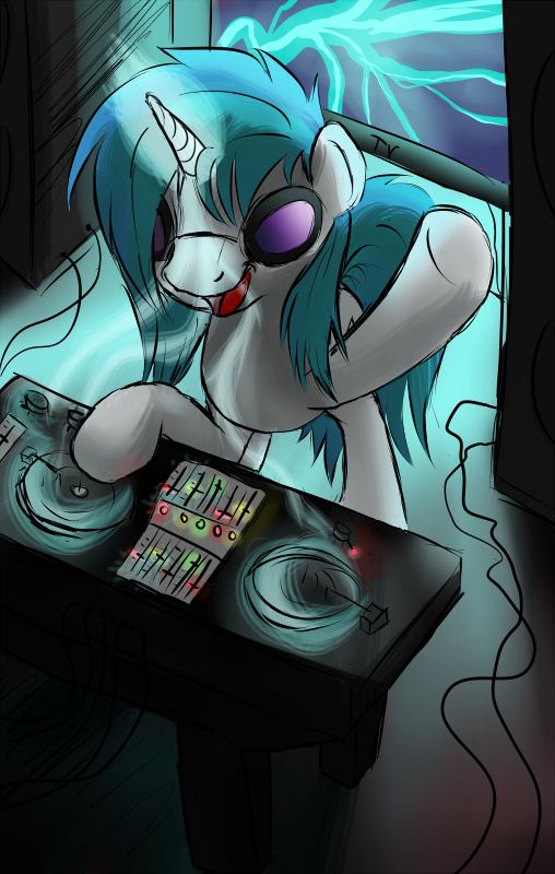 Now Presenting...DJ PON-3! (iPhone wallpaper?) by JinYaranda