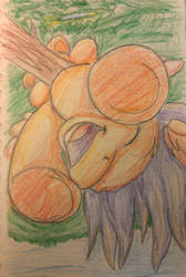 Colored Pencil Scootaloo by InkyBeaker