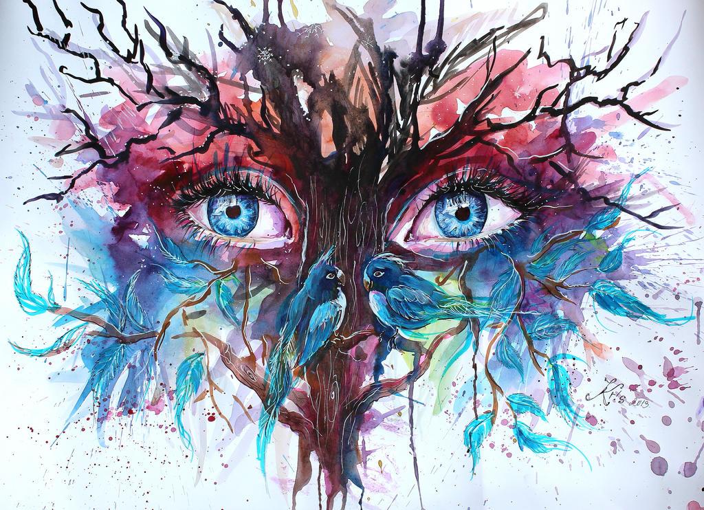 eyes of the trees by Kris-Kamikakushi