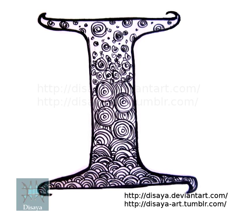 letter design i by disaya on deviantart