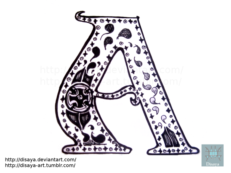 Letter design - A by Disaya