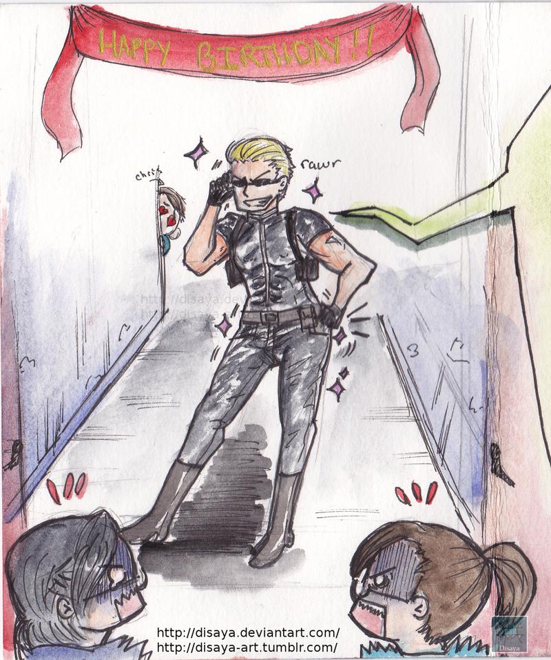 Resident Evil Birthday Card Wesker By Disaya On Deviantart