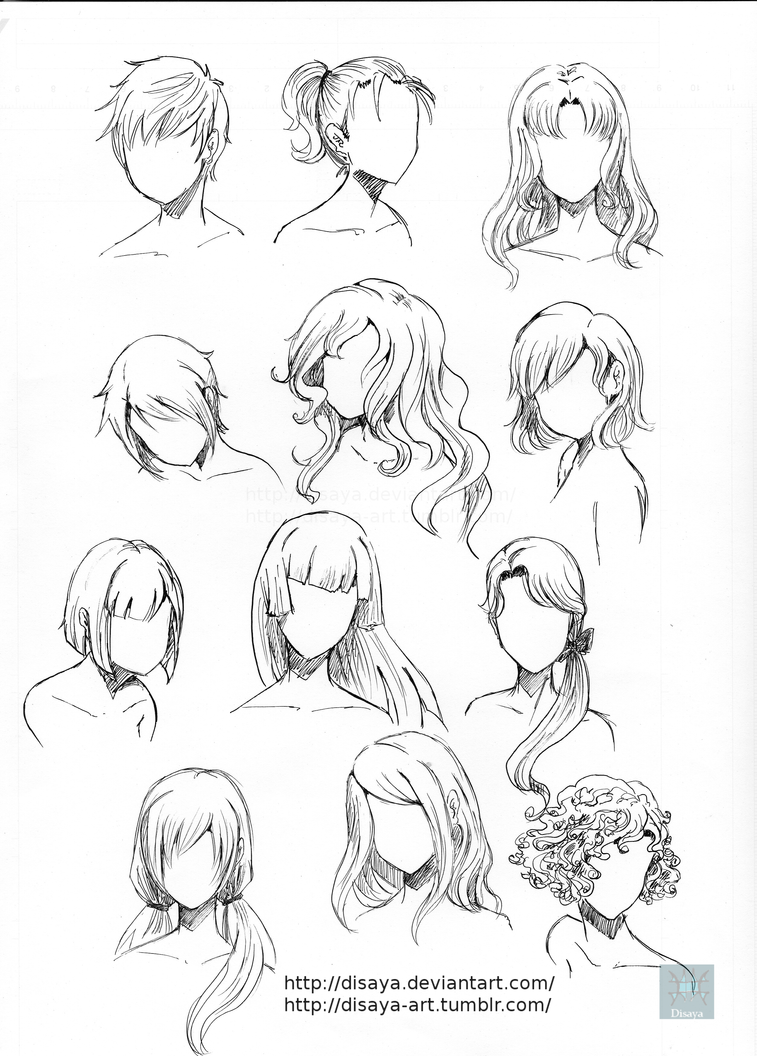 hair reference 3disaya on deviantart