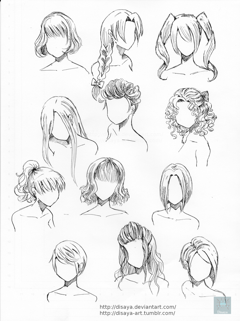 hair reference 2disaya on deviantart