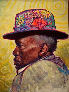 J.L.Hooker,acrylic on carton board