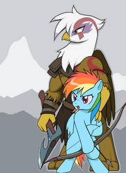 Goddess of War - Gilda and Dash by Droll3