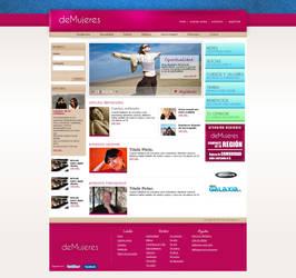 DeMujeres - web Layout by wakowrz