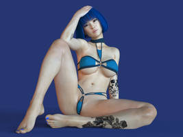Minah in Blue - 01 by aspect3dx