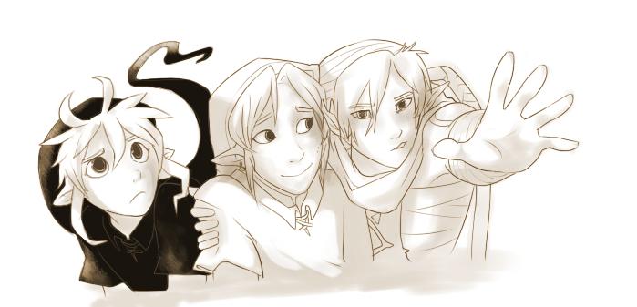 Link, Dark 'n Shiek sketch by TaruKunJenour-FanArt