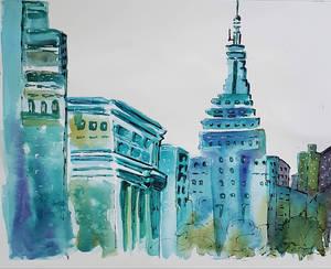 Urban city, blues