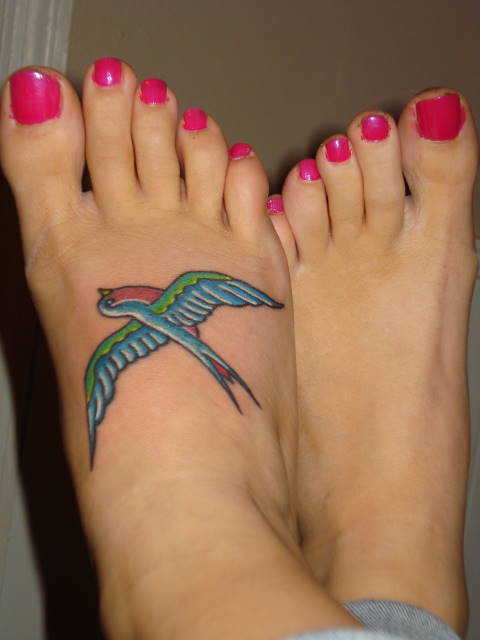 Sparrow Foot Tattoo