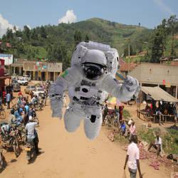 Africancatstronaut by graceschaeffler