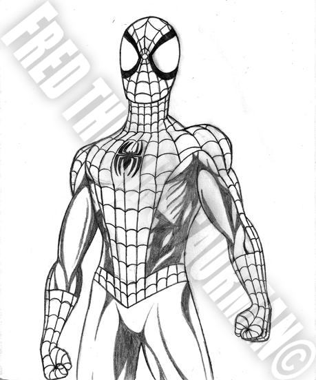 standing spiderman coloring pages | The Ultimate Spider-Man by FredtheDinosaurman on DeviantArt