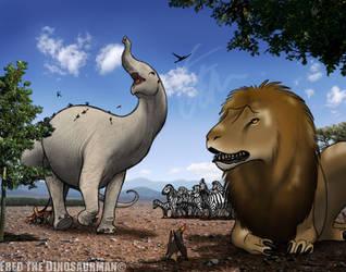 A Very African Jurassic America   Familiar Beasts by FredtheDinosaurman