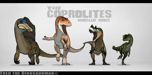 The COPROLITES Dinosaur Modes by FredtheDinosaurman