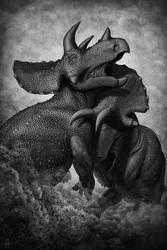 Saurian's Gods of War: Triceratops by FredtheDinosaurman