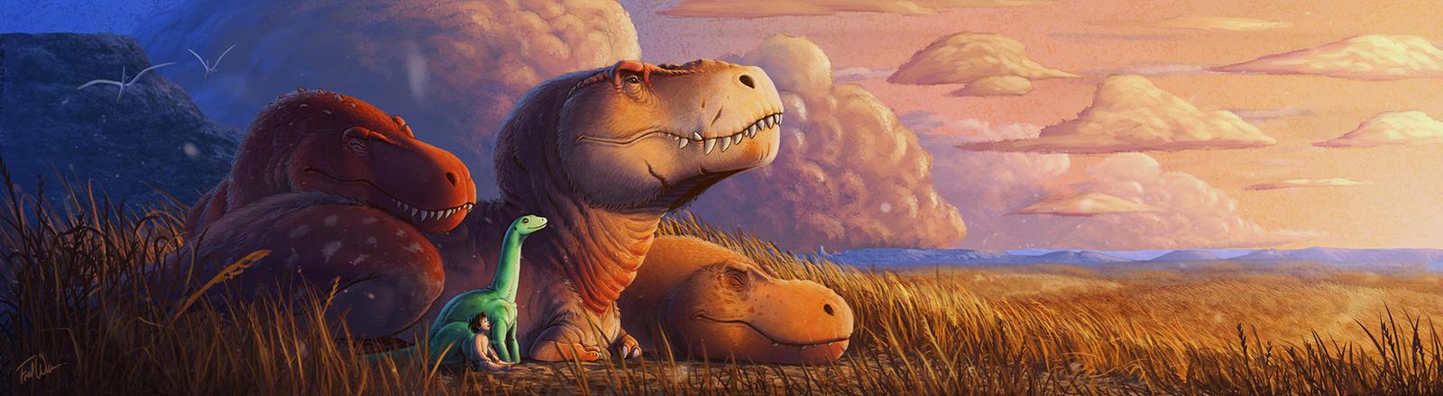 Dinosaur Sunset - The Good Dinosaur Fan Art
