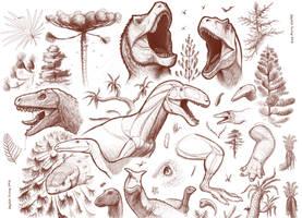 Mesozoic Sketch Dump - April 2016