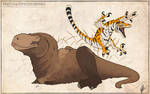 Grizzly Rex and Tiger Raptor Doodle
