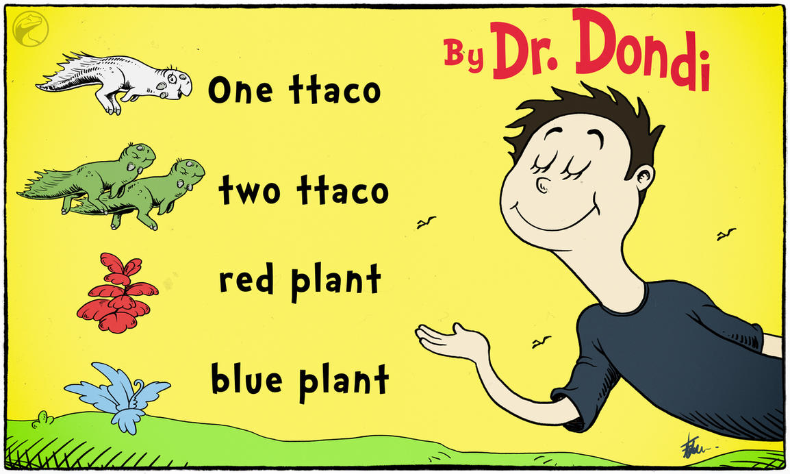 One ttaco, two ttaco, red plant, blue plant by FredtheDinosaurman