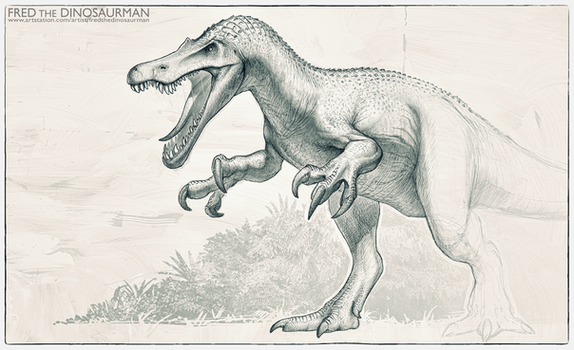 Jurassic World 2 Baryonyx Redesign by FredtheDinosaurman