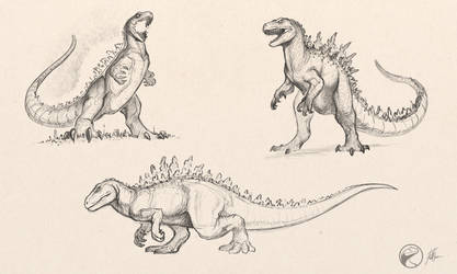 Godzilla Sketches by FredtheDinosaurman