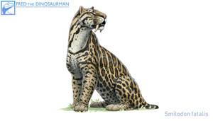 Smilodon fatalis #3 by FredtheDinosaurman
