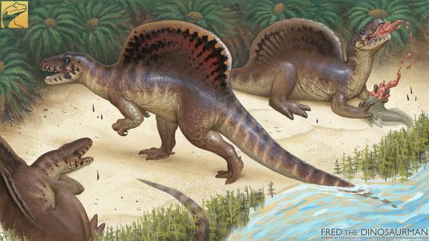 Retro Spinosaurus