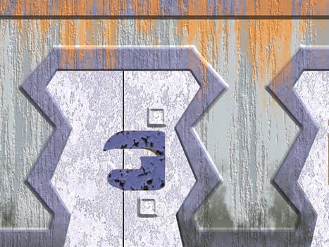 Rusted Sci Fi Door