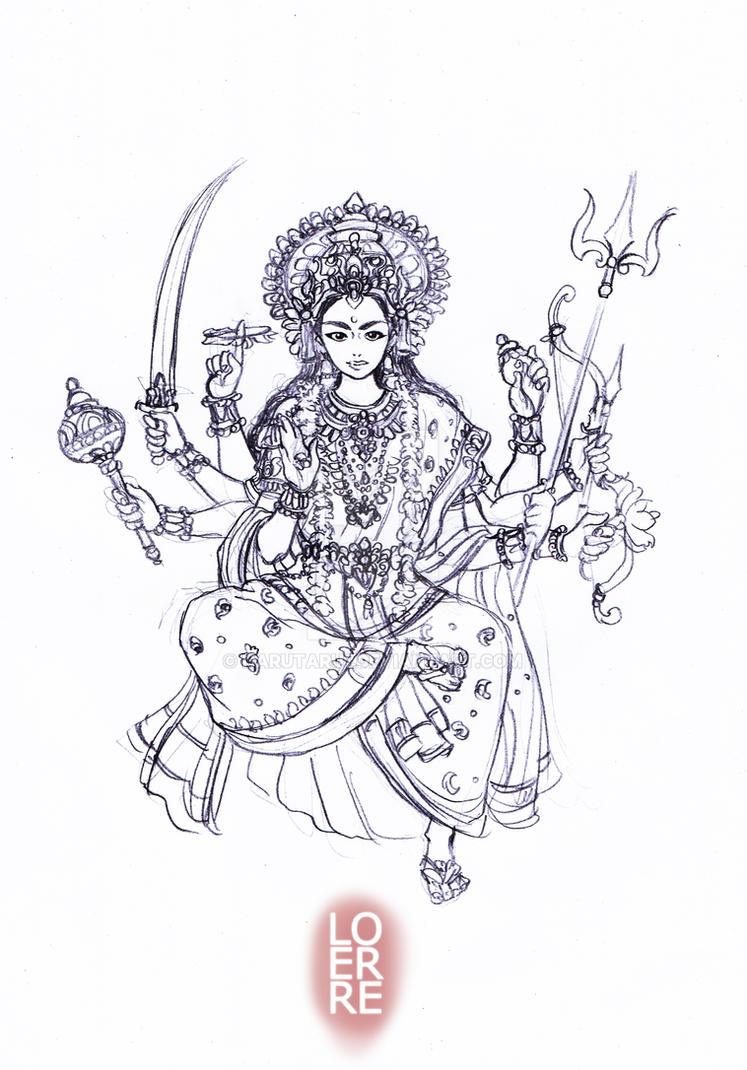 Durga by narutaru1