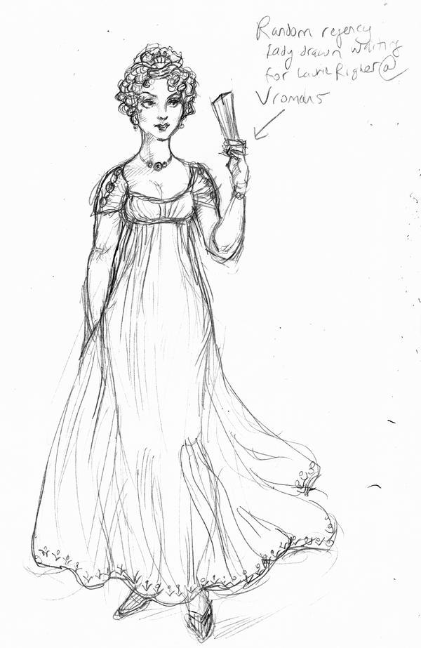 Regency lady by suburbanbeatnik