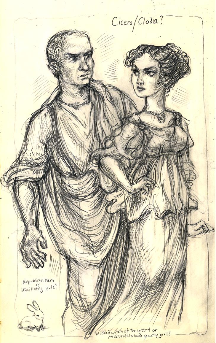 Cicero and Clodia by suburbanbeatnik