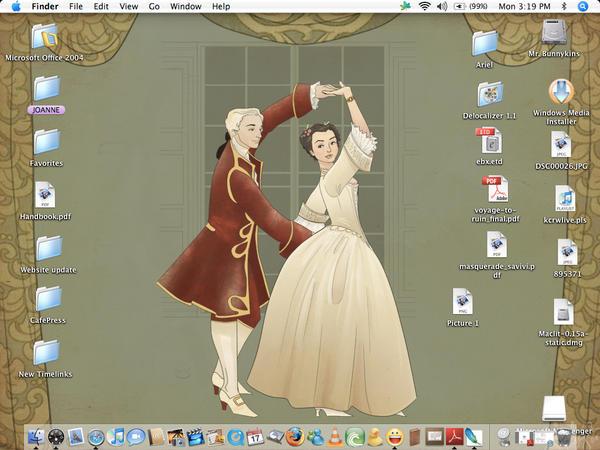 My Allemande-themed desktop