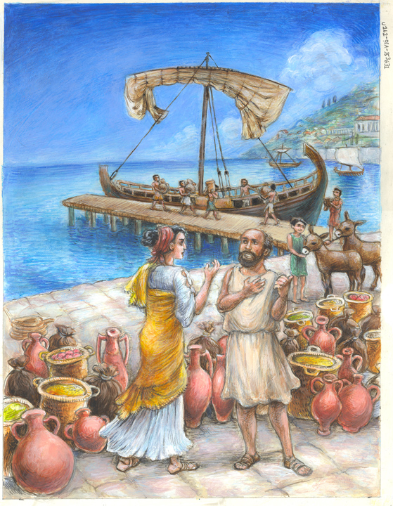 Ancient Greek boats by suburbanbeatnik