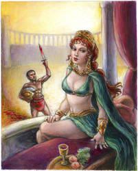The Empress and the Gladiator by suburbanbeatnik