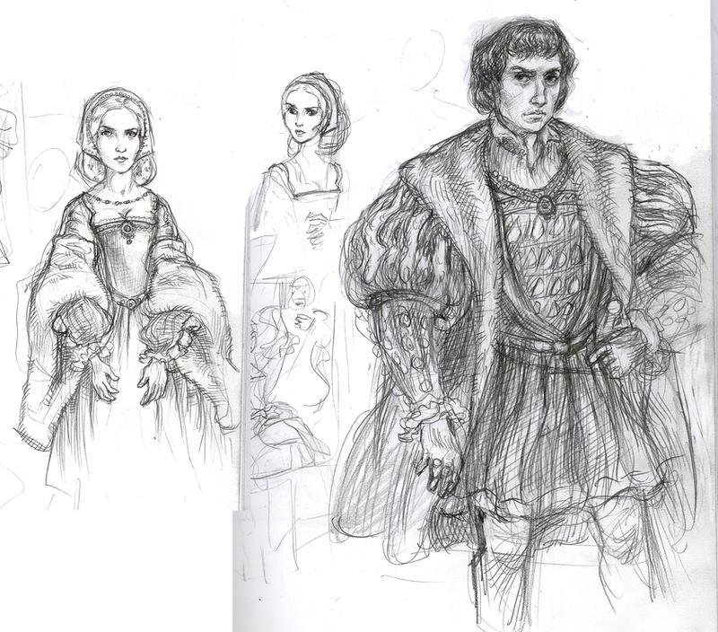 George and Jane Boleyn studies by suburbanbeatnik