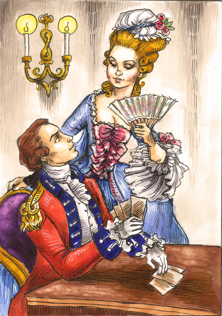 Peggy Shippen and Major Andre by suburbanbeatnik
