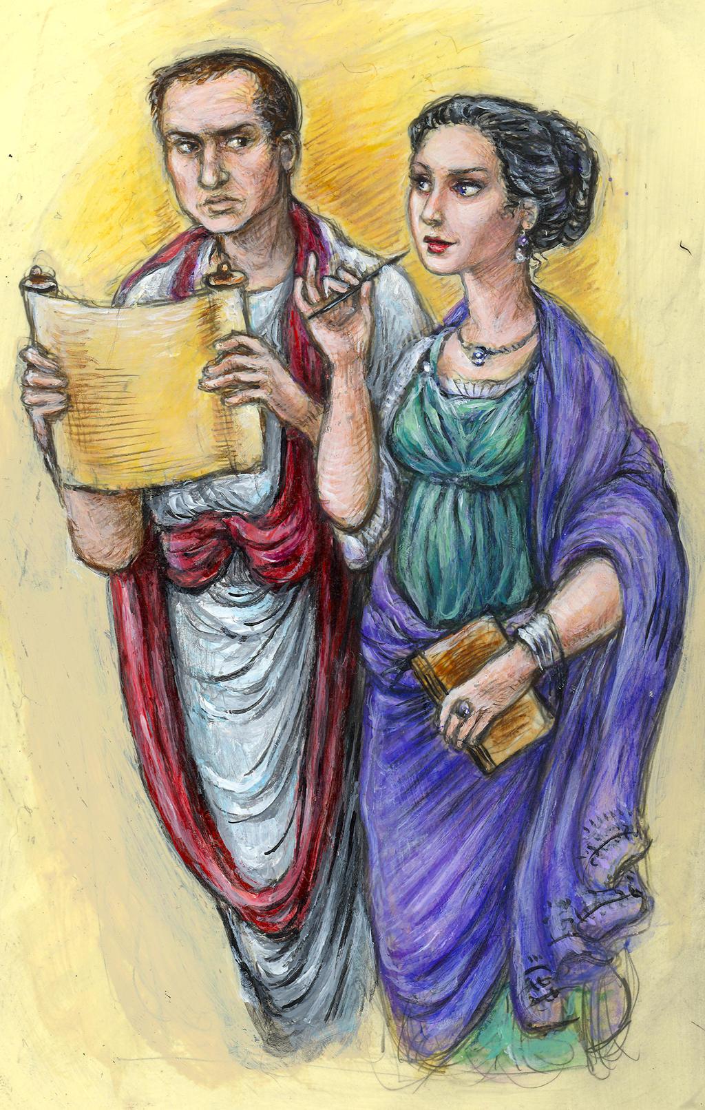 Cicero and Clodia II by suburbanbeatnik