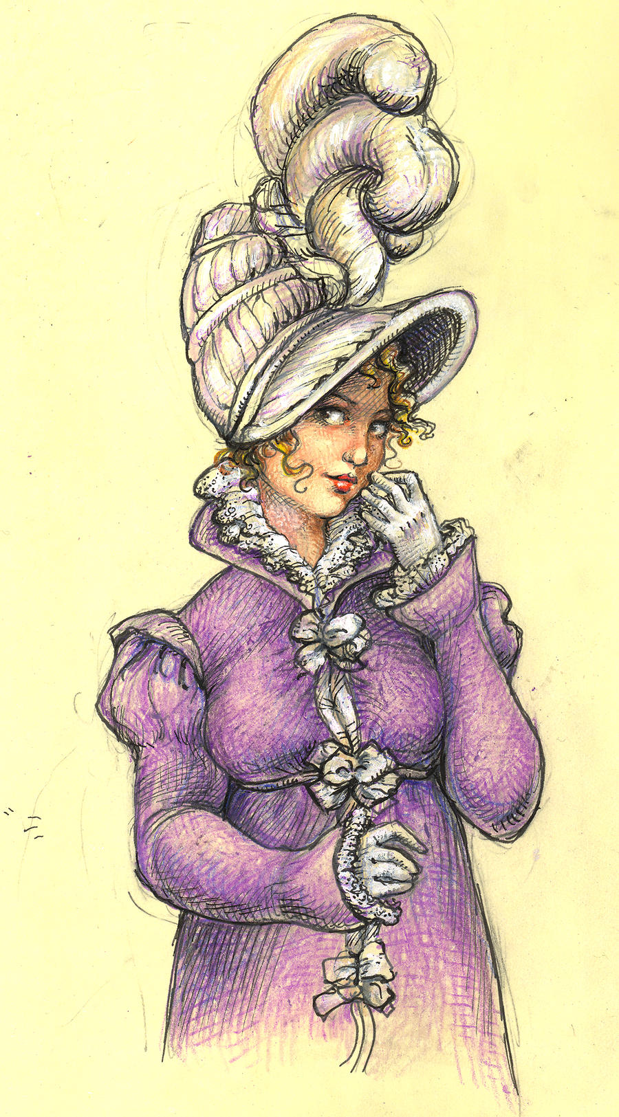 Regency Hat Girl by suburbanbeatnik