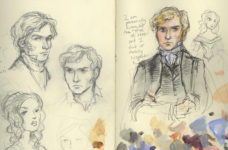 St. John Rivers sketches by suburbanbeatnik
