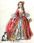 Kristin as Madame Pompadour