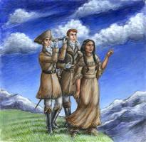 Lewis, Clark and Sacagawea by suburbanbeatnik