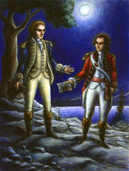 Benedict Arnold and John Andre by suburbanbeatnik