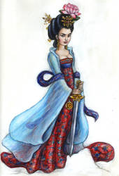 Tang Dynasty Mulan by suburbanbeatnik