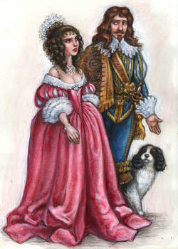 Queen Mariana and Prince-Consort Carolus