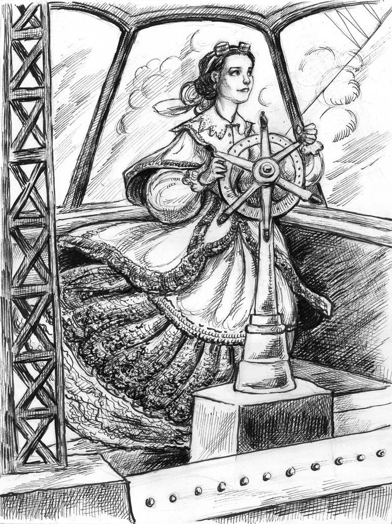 Zeppelin Girl Pilot by suburbanbeatnik