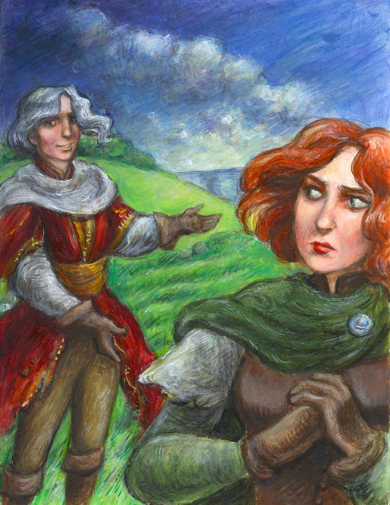 Aine and Evion by suburbanbeatnik