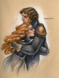 Theon and Sansa by suburbanbeatnik