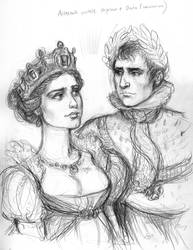 Daria and Napoleon coronation